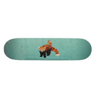 Red Panda & Owl Skateboard