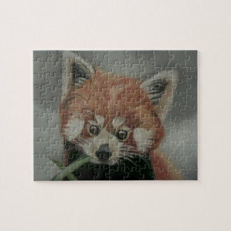 Red Panda Pastel Painting Jigsaw Jigsaw Puzzle