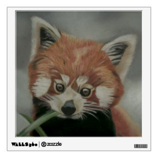 Red Panda Pastel Painting Wall Decal