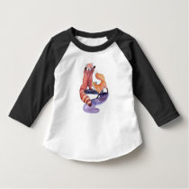 Red Panda Playing With Fox T-Shirt