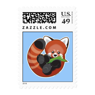 Red Panda Postage Stamps