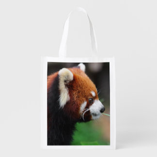 Red panda reusable grocery bag