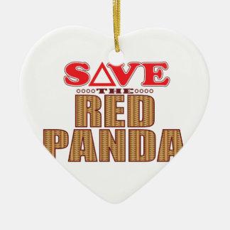 Red Panda Save Ceramic Ornament