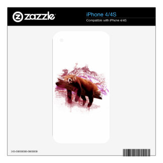 Red Panda Decal For iPhone 4