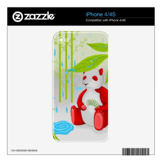 Red Panda Slinky Cell Phone Skin iPhone 4S Skins