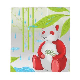 Red Panda Slinky Notepad