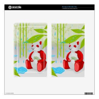 Red Panda Slinky Tablet Skin Kindle Fire Skins