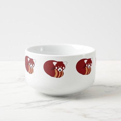 Red Panda Soup Mug