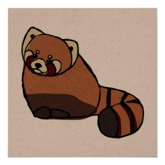 Red Panda Square Greetings Card, Blank Card