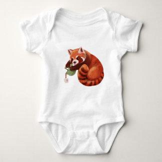 Red Panda Tea Time Baby Bodysuit