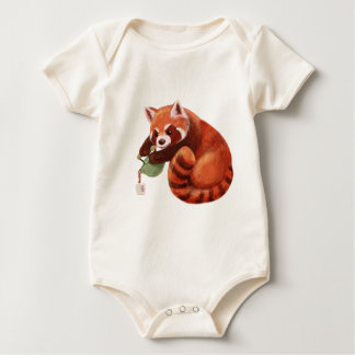 Red Panda Tea Time Baby Bodysuit