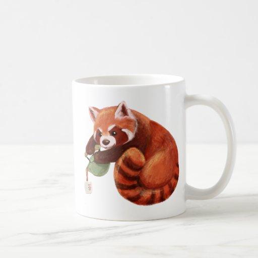 Red Panda Tea Time Coffee Mugs