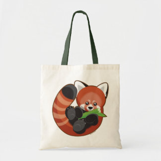 Red Panda Tote Bags