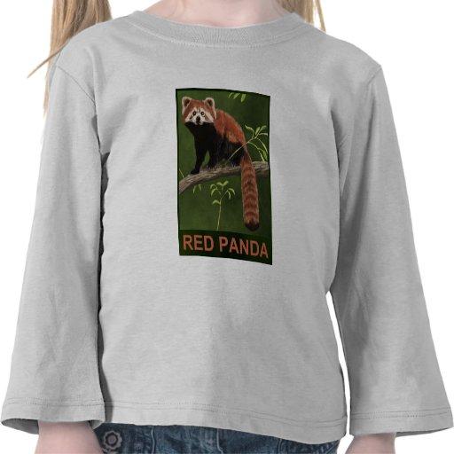 Red Panda Tee Shirts