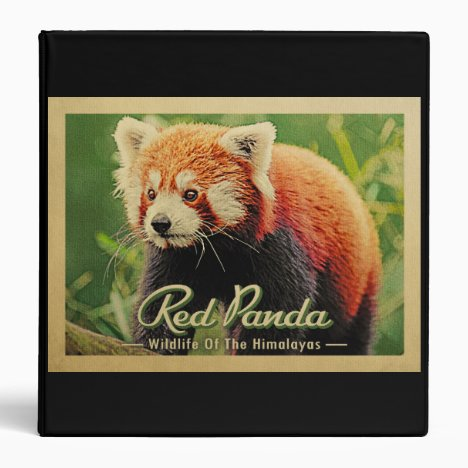 Red Panda - Wildlife Of The Himalayas 3 Ring Binder
