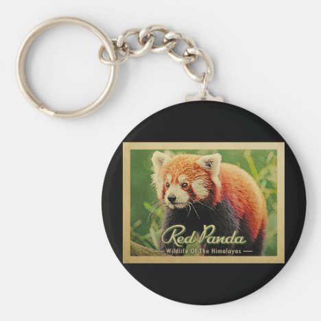 Red Panda - Wildlife Of The Himalayas Keychain
