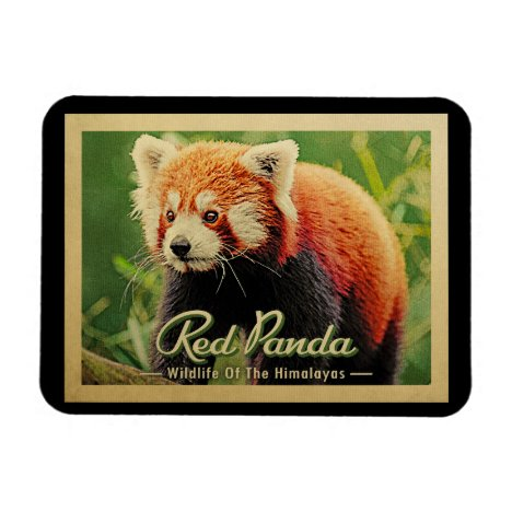 Red Panda - Wildlife Of The Himalayas Magnet