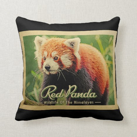 Red Panda - Wildlife Of The Himalayas Throw Pillow