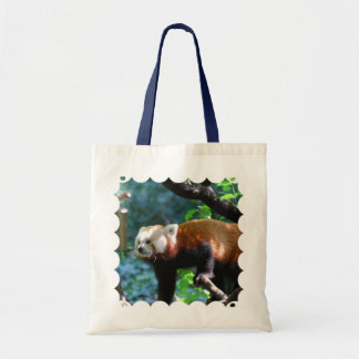 Red Panda With a Cute Face Tote Bags