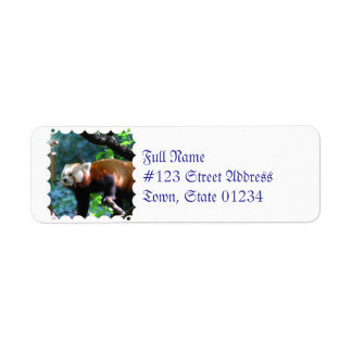 Red Panda With a Cute Face Return Address Label