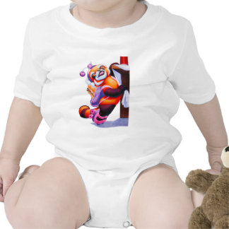Red Panda with Roller-Skates Infant Onsie Bodysuits