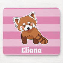 Red Panda With Your Name - Personalized Animal Mouse Pad