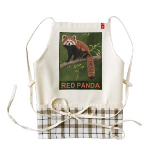 Red Panda Zazzle HEART Apron