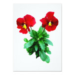"""Red Pansy Duo 5"""" X 7"""" Invitation Card"""