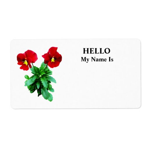 Red Pansy Duo Shipping Labels