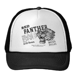 Red panther trucker hat