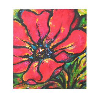 Red Papaver Note Pads