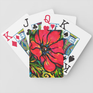 Red Papaver Deck Of Cards