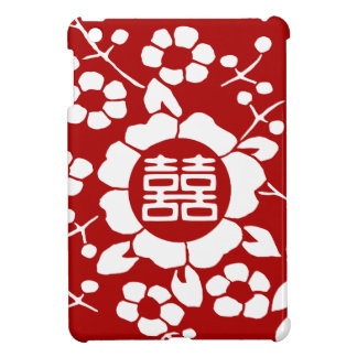 Red • Paper Cut Flowers • Double Happiness iPad Mini Cases