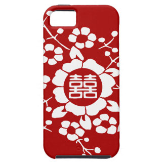 Red • Paper Cut Flowers • Double Happiness iPhone SE/5/5s Case