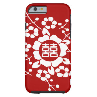 Red • Paper Cut Flowers • Double Happiness iPhone 6 Case
