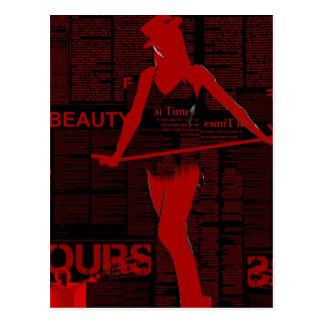 Red Paper Dance Postcard