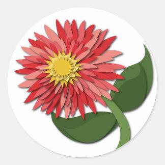 Red Paper Flower Sticker