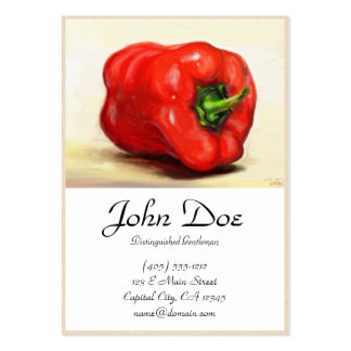 Red Paprika classic vegetable still life oil paint Large Business Card