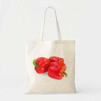 Red paprika tote bag