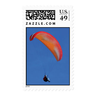 Red Parasailer Postage Stamps