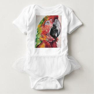 Red Parrot Baby Bodysuit