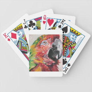 Red Parrot Bicycle Playing Cards