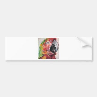 Red Parrot Bumper Sticker