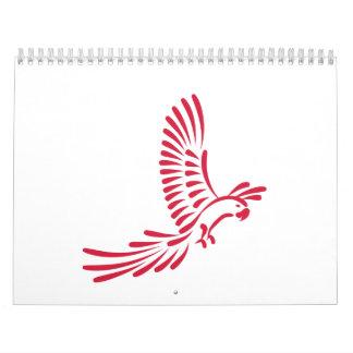 Red parrot calendar