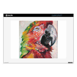 """Red Parrot Decal For 15"""" Laptop"""