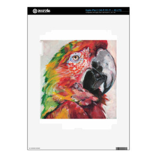 Red Parrot iPad 3 Decals