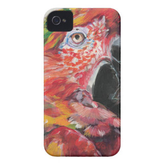 Red Parrot iPhone 4 Case-Mate Case