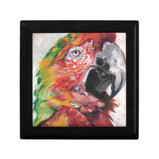 Red Parrot Jewelry Box