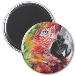 Red Parrot Magnet