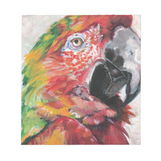 Red Parrot Notepad